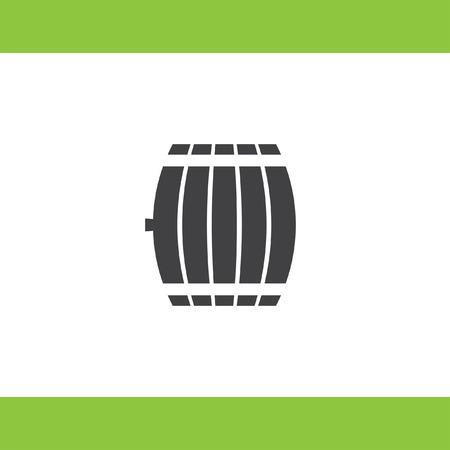 winery: barrel vector icon