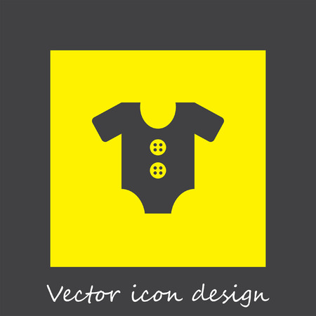 jumpsuit: baby jump suit vector icon