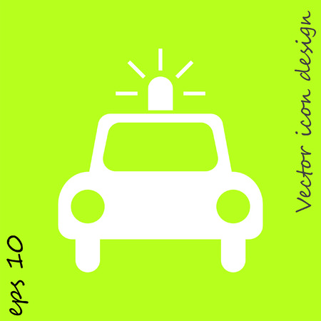 police car vector icon