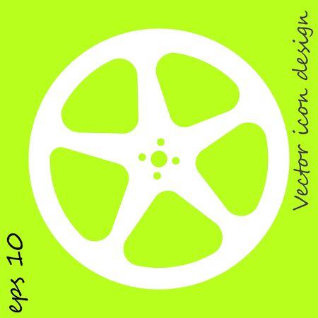 movie video film reel vector icon