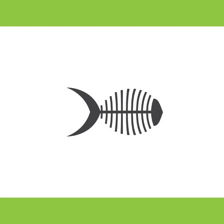 fish bone: fish bone vector icon Illustration