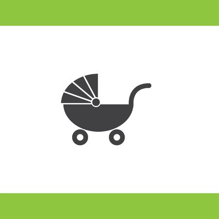 perambulator: passeggino vector icon