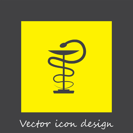 snake symbol: pharmacy snake symbol vector icon