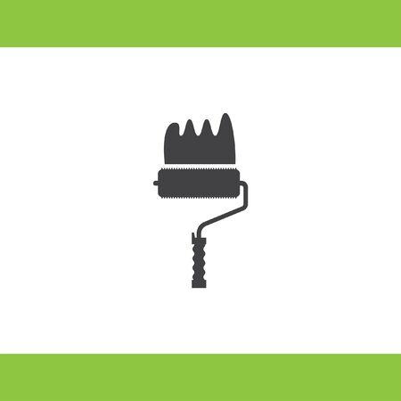 descriptive: painting roller vector icon