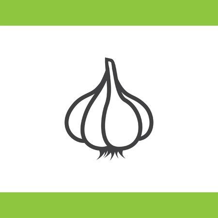 ajo: garlic vector icon Vectores