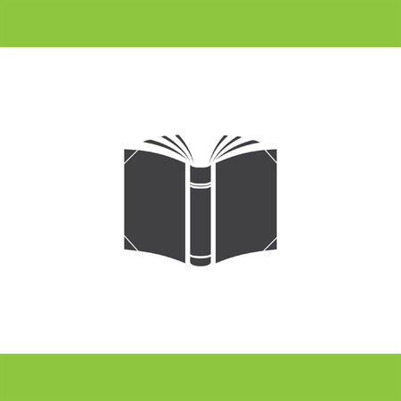 open book vector icon Illustration