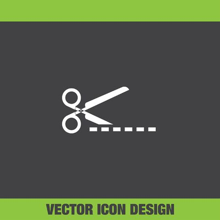 scissors cutting: scissors cut vector icon