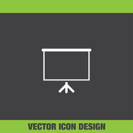 board: presentation board vector icon
