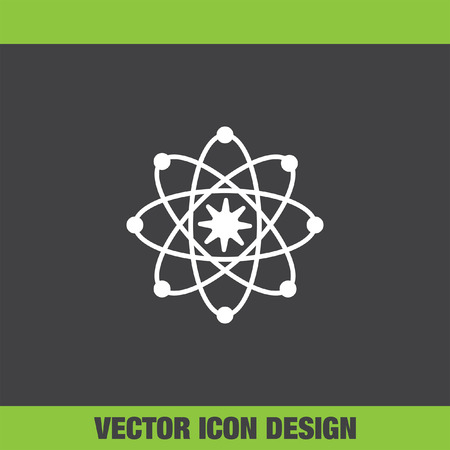 proton: Atom model vector icon Illustration