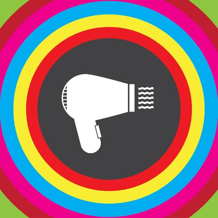 hair dryer: hairdryer vector icon Illustration
