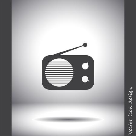 fm radio: radio vector icon