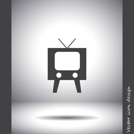 symbol vector: television symbol vector icon