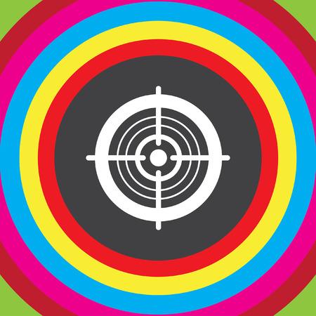 bullseye: target vector icon