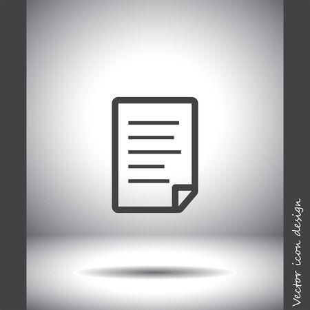 on white: document white vector logo Illustration