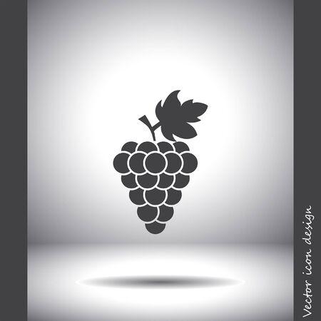 uvas: icono de vector de uva