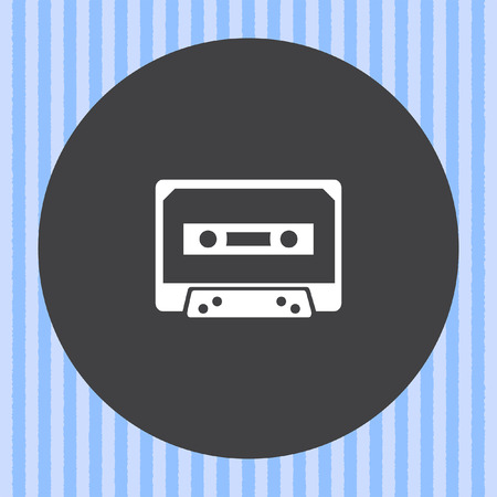 cassette tape: music tape vector icon Illustration