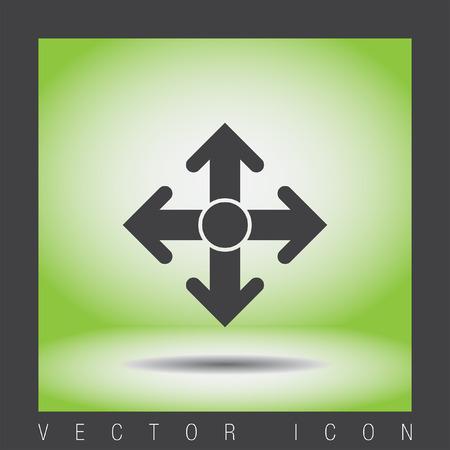 directions icon: arrows move vector icon