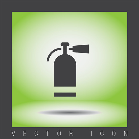 fire safety sign: fire extinguisher vector icon