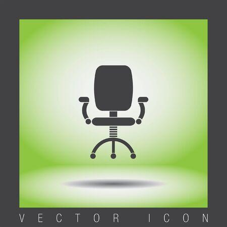 sedia ufficio: office chair vector icon