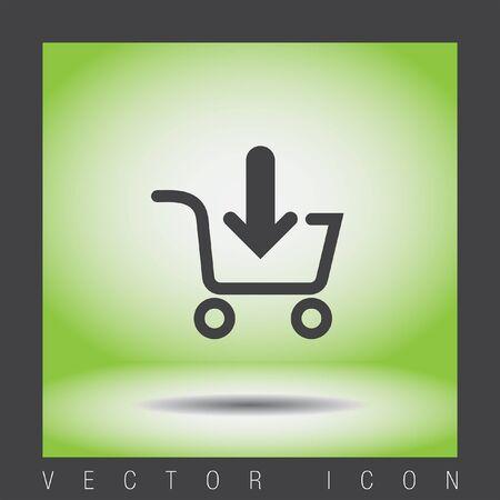 shopping cart icon: add to shopping cart vector icon