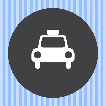 taxi cab: taxi cab vector icon