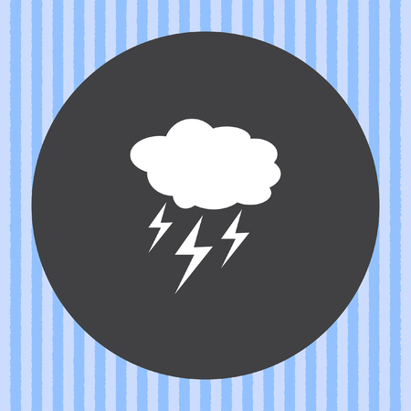 blue lightning: cloud with lightning weather vector icon Illustration