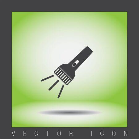 taschenlampe: flashlight vector icon Illustration
