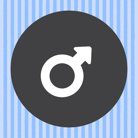 gender symbol: male gender symbol vector icon Vettoriali