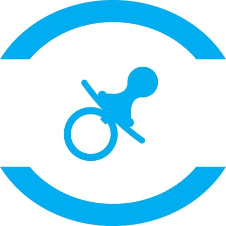 dummies: pacifier nipple vector icon