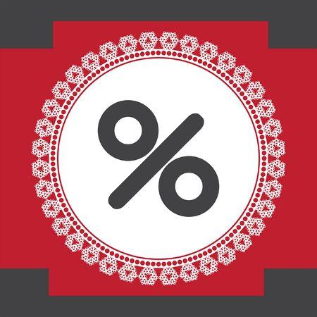 percent sign: percent sign vector icon