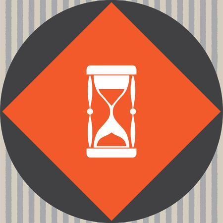 piasek: sand clock vector icon Ilustracja