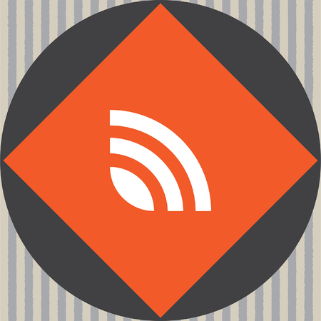 feed: rss news feed vector icon