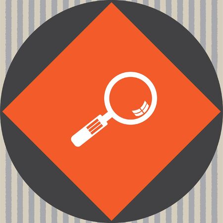 magnifying glass icon: magnifying glass vector icon Illustration