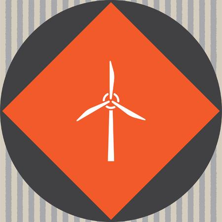 generator wind: wind generator vector icon