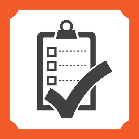 check icon: check list with ok sign vector icon