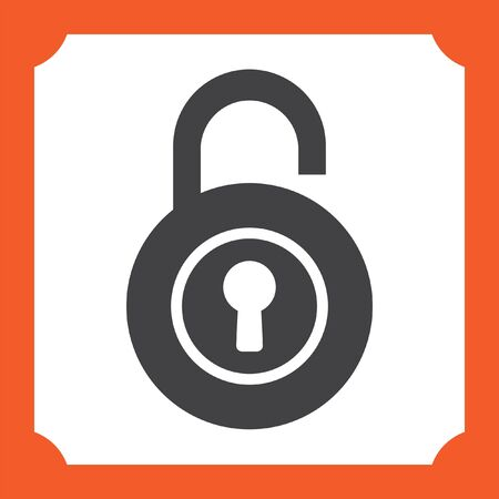 lock: lock open vector icon Illustration