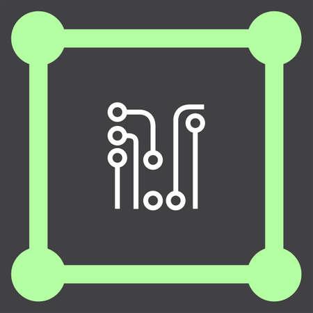 board: circuit board vector icon