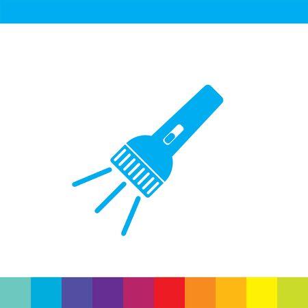 flashlight: flashlight vector icon Illustration