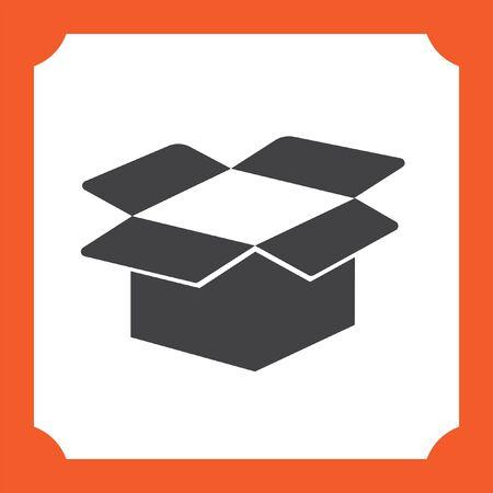 cardboard box open vector icon Illustration
