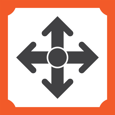 moving up: arrows move vector icon
