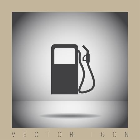 benzine: gas station pump vector icon Illustration