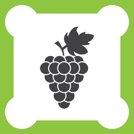 grape: grape vector icon Illustration