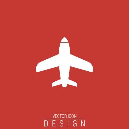aeroplane: airplane vector icon logo Illustration