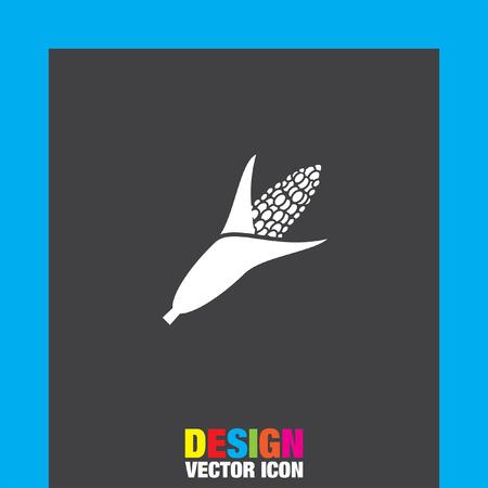 maize cultivation: corn vector icon