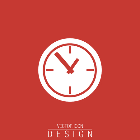 business time: time clock vector icon Illustration