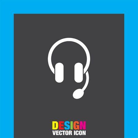 headset: headphones headset vector icon Illustration