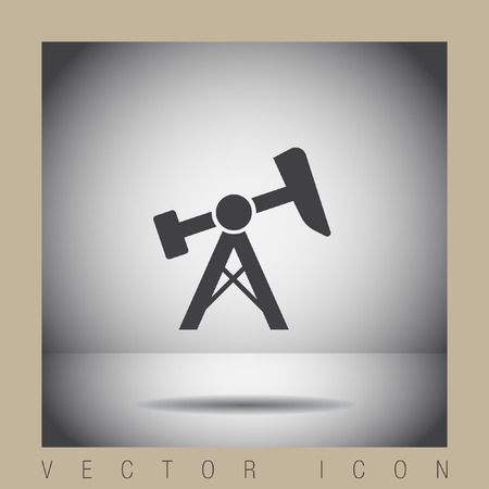 energy icon: oil pump jack icon