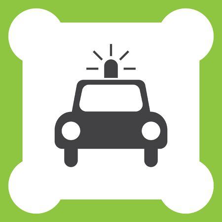 arrest: police car vector icon
