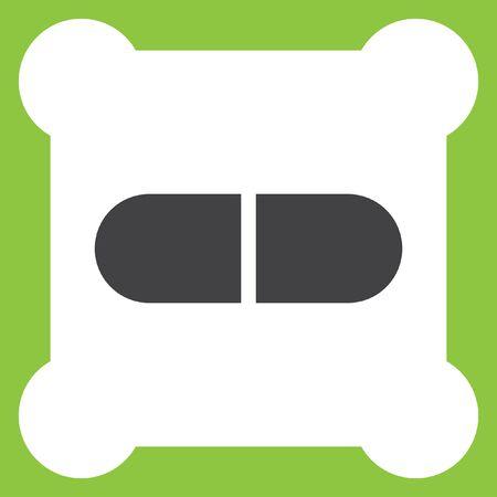 dose: pill vector icon
