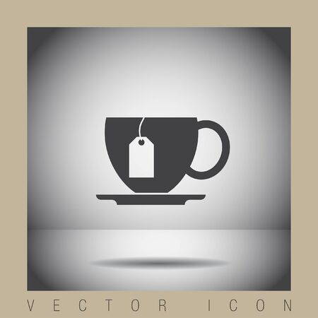bag icon: cup with tea vector icon Illustration